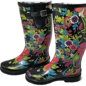 Sakroots | Tall Rainboots in Flower Power